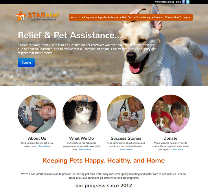Relief & Pet Assistance... STARelief's long-term vision is to ensure that no pet caretaker will ever have to surrender their pet due to financial hardship, and to ensure that all companion animals are treated with the dignity and respect that they deserve.